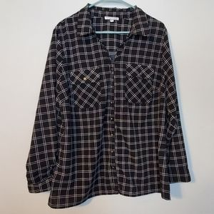 ***3 for $15 Notations Plaid Blouse Size 2X